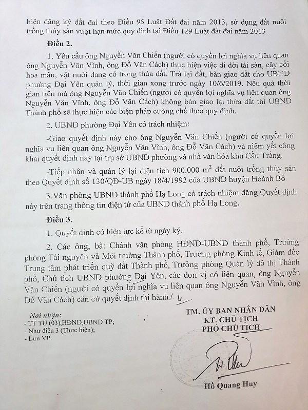 """Quảng Ninh : Người dân hoang mang trước quyết định thu hồi """" 0 đồng """" . - Ảnh 2"""