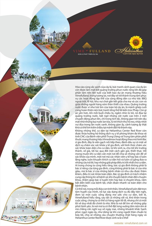 Vimefulland ra mắt dự án Hellianthus Center Red River Hoa Hướng Dương, Hoa Mặt trời rực rỡ - Ảnh 6