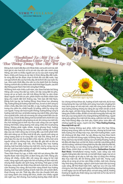 Vimefulland ra mắt dự án Hellianthus Center Red River Hoa Hướng Dương, Hoa Mặt trời rực rỡ - Ảnh 1