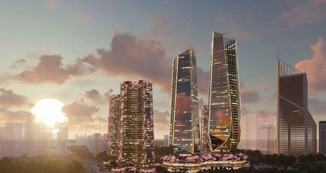 Phối cảnh Tháp tài chính Sunshine Empire tại Hà Nội.
