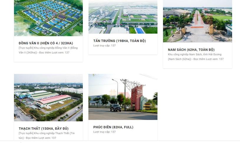 TNIHoldings đang phát triển nhiều dự án KCN tại nhiều tỉnh, thành trên cả nước.