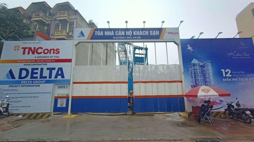 Dự án TNR The Nosta 90 đường Láng đang được chủ đầu tư tiến hành xây dựng
