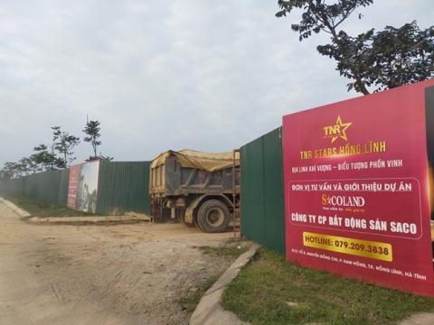 Bên ngoài dự án TNR Stars Hồng Lĩnh.