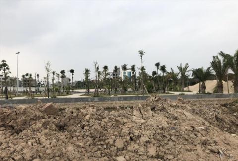 """Khu đất đang làm hạ tầng để xây NƠXH Thượng Thanh (Long Biên, Hà Nội), nhưng """"cò"""" lại rao bán, nhận đặt cọc với khách hàng"""