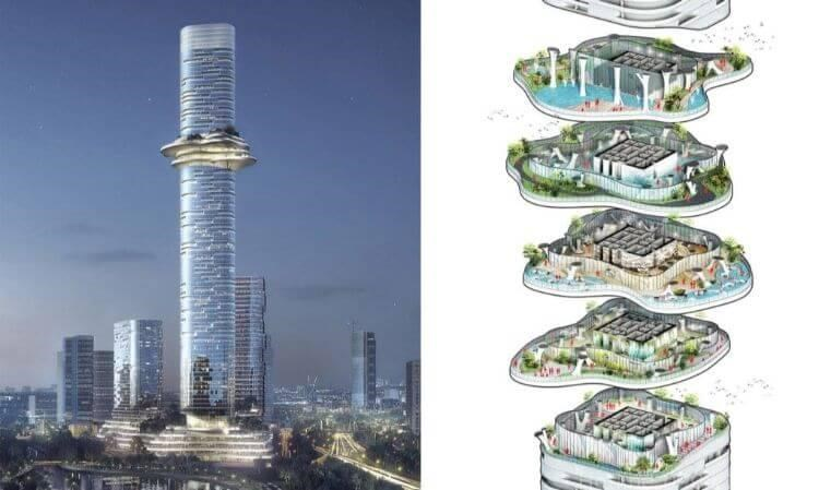 Cắt lớp thiết kế từng tầng tòa tháp Empire City 88 tầng