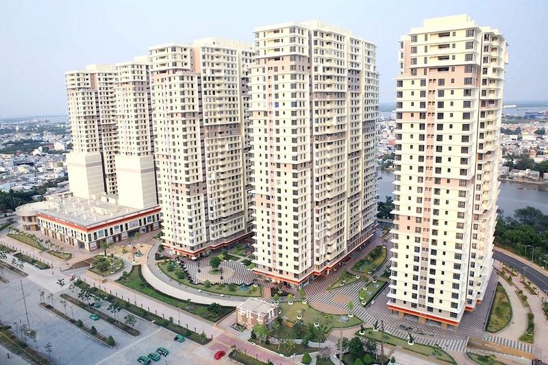 Ngân hàng BIDV nhiều lần rao bán hàng chục căn hộ tại chung cư Kỷ Nguyên - The Era Town (quận 7). Ảnh: QUANG HUY