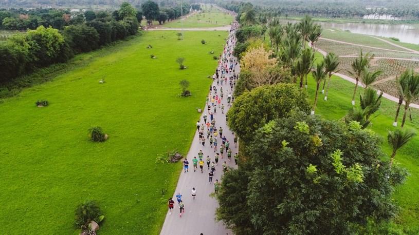"""Ecopark Marathon 2021 - Ngắm cung đường chạy giữa thiên nhiên """"siêu chất"""" trước giờ G - Ảnh 7"""