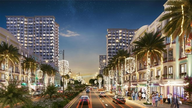 Trục đại lộ trung tâm tại Sun Grand Boulevard hứa hẹn chắc chắn trở thành khu vực sầm uất, thời thượng bậc nhất xứ Thanh.