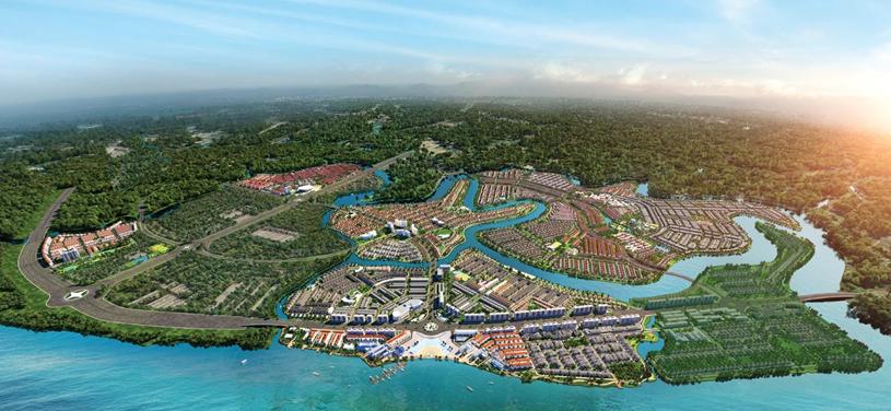 Phối cảnh dự án Aqua City của Novaland. (Ảnh: Novaland).