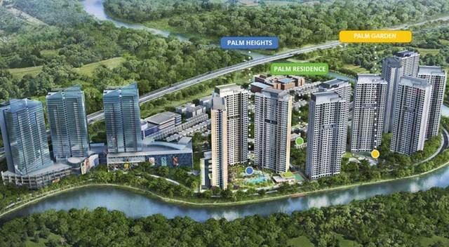 Phối cảnh tổng thể PalmCity của liên doanhKeppel Land - Tiến Phước - Trần Thái.