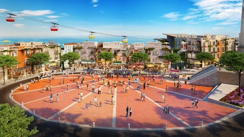 Quảng trường con sò là nơi du khách dừng chân sau những hoạt động vui chơi, mua sắm ở The Center