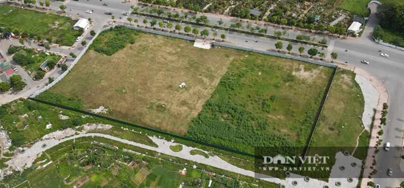 Vị trí lô đất làm dự án Eco Smart City Cổ Linh đang là bãi đất trống, chưa có hoạt động xây dựng. (ảnh chụp ngày 16/6/2021)