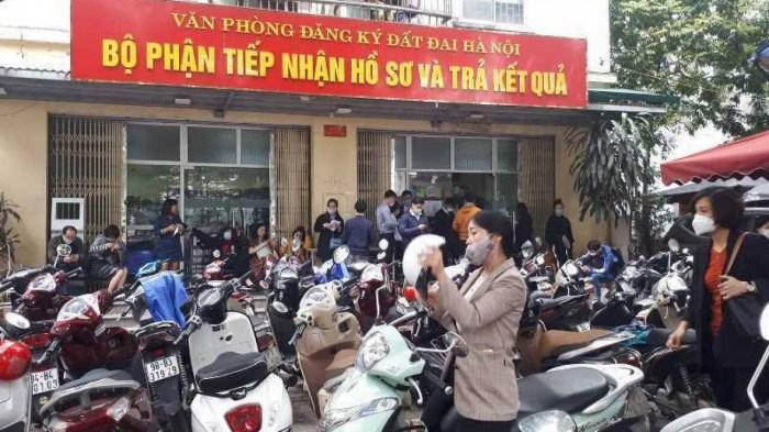 Văn phòng đăng ký đất đai TP Hà Nội.