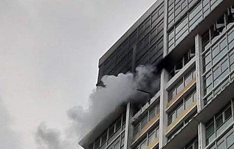 Một căn hộ chung cư từng bốc cháy
