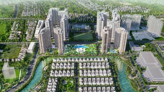 The Ocean View gồm 12 tòa căn hộ, một mặt tiếp giáp con đường trung tâm huyện Gia Lâm, một mặt ôm trọn tầm nhìn hồ Đảo Cọ