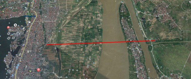Điểm đầu cầu Tứ Liên là đường Âu Cơ, điểm cuối là điểm nối với QL3 hiện tại tại địa phận thị trấn huyện Đông Anh. (Ảnh phối cảnh của đơn vị tư vấn thiết kế).
