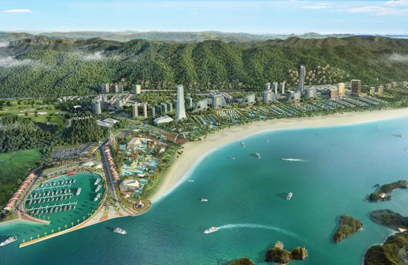 Phối cảnh Dự án Tổ hợp du lịch nghỉ dưỡng Sonasea Vân Đồn Harbor City. (Ảnh: CEO Group)