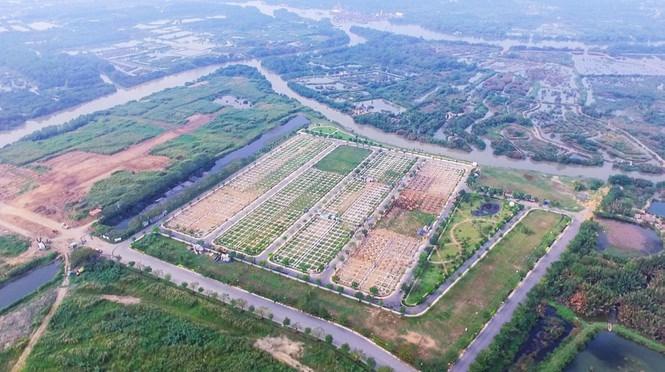 Toàn cảnh dự án khu dân cư Nhơn Đức (xã Nhơn Đức, huyện Nhà Bè, TPHCM)