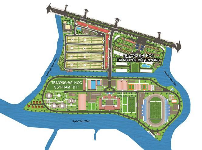 Bản đồ quy hoạch của dự án khu dân cư Nhơn Đức