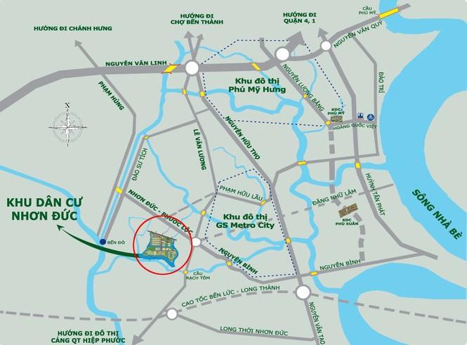 """Dự án có vị trí khá """"đắc địa"""", gần khu đô thị Phú Mỹ Hưng (quận 7)"""