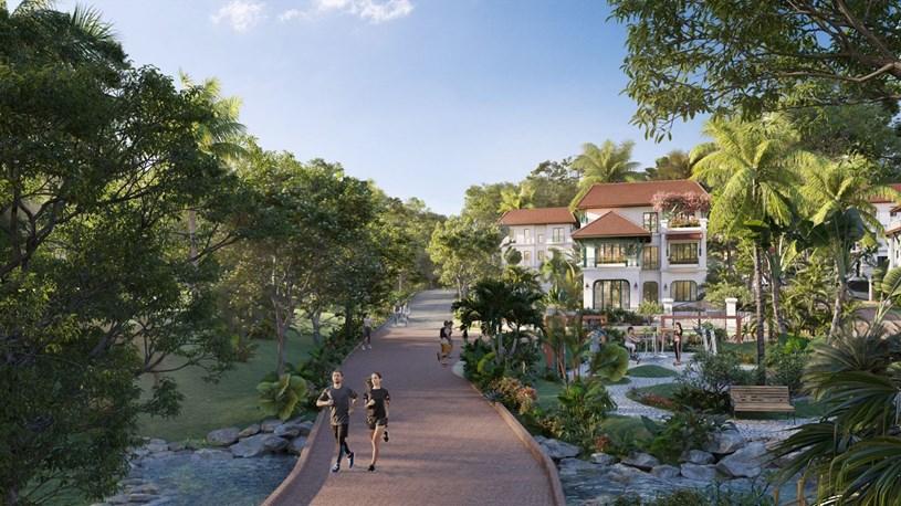 Dự án được đầu tư lớn vào cảnh quan với tổng diện tích cây xanh lên tới 19 nghìn m2. (Ảnh phối cảnh)