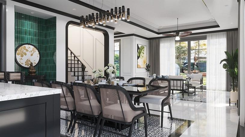 Biệt thự Sun Tropical Village mang phong cách kiến trúc Tropical – Indochine. (Ảnh phối cảnh)