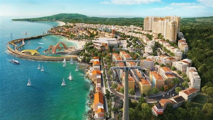 Tổ hợp giải trí – nghỉ dưỡng Thị Trấn Địa Trung Hải, Nam Phú Quốc. (Ảnh minh họa)