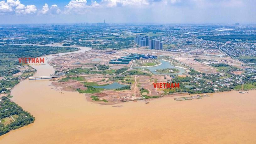 """""""Đột nhập"""" đại công trường Vinhomes Grand Park xem tiến độ xây dựng Phân khu thấp tầng The Manhattan có giá 30 tỷ/căn - Ảnh 17"""