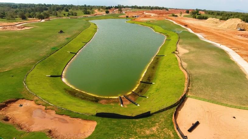 Sân Golf PGA Ocean đã hoàn thiện được trên 65%, dự kiến sẽ đi vào hoạt động từ tháng 12/202.