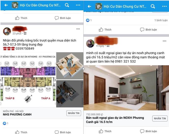 Rầm rộ rao bán quyền được mua căn hộ NƠXH ở Hà Nội - Ảnh 3