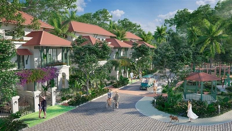 Sun Tropical Village - Ngôi làng nhiệt đới giữa biển rừng Bãi Kem. (Ảnh phối cảnh minh họa).
