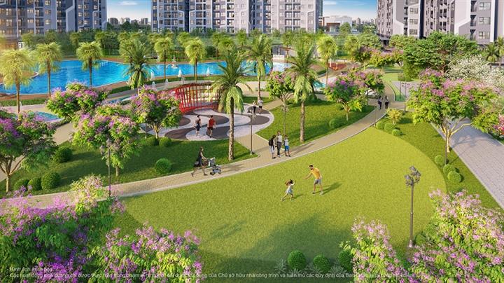 """Không gian xanh đã trở thành """"đặc sản"""" của các sản phẩm bất động sản mang thương hiệu Vinhomes."""