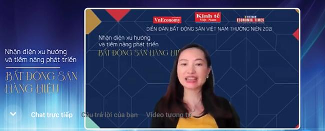 Bà Dương Thùy Dung, Giám đốc cấp cao CBRE Việt Nam. Ảnh chụp màn hình: Quốc Hải