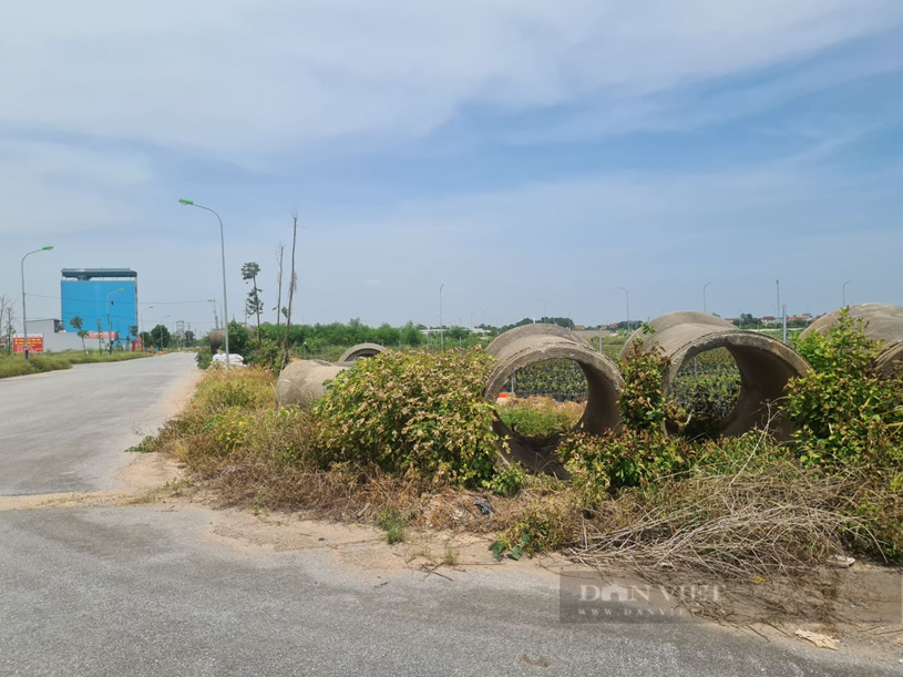 Dự án Cienco 5 tại xã Tiền Phong, huyện Mê Linh Việc trong tình trạng triển khai dở dang nhiều năm nay. Ảnh: Trần Kháng