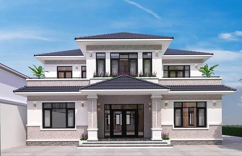 Nếu chi phí xây dựng lớn hơn một chút thì có thể cân nhắc làm nhà mái Nhật 2 tầng.