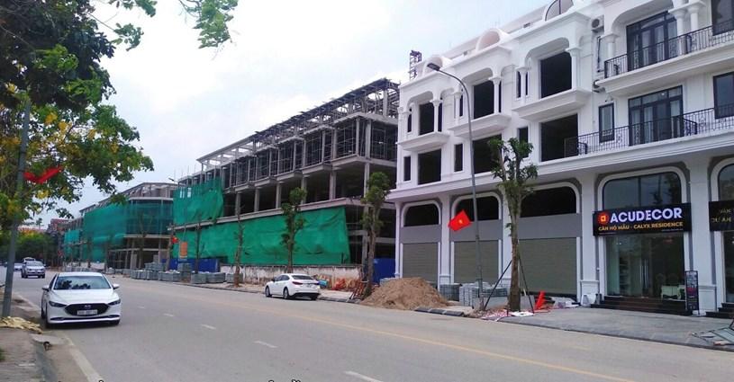 Một căn liền kề dự án khu nhà ở 319 Uy Nỗ, huyện Đông Anh, Hà Nội đang có giá bán từ 73-90 tr/m2 chưa tính tiền xây dựng (5,5 triệu đồng/m2). Ảnh: 319donganh