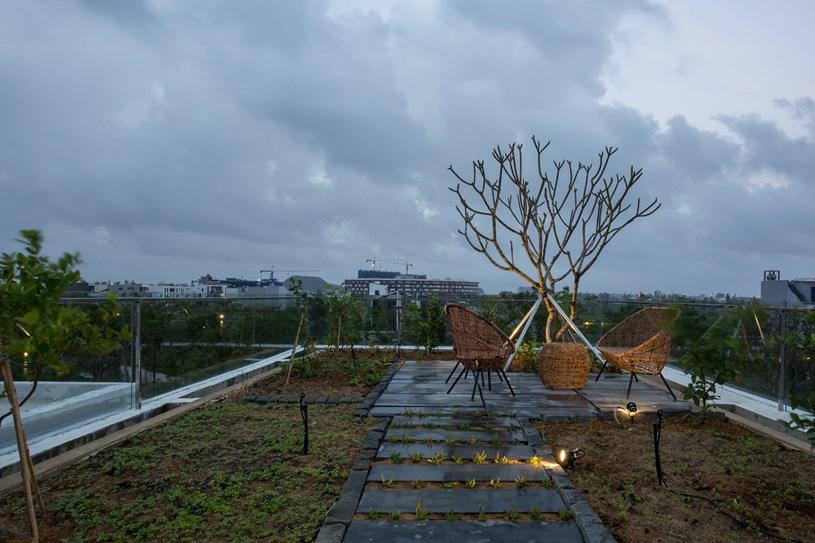 Nhà 2 tầng mở hoàn toàn với cửa kính, cả sân thượng là vườn trồng rau và khu vui chơi - Ảnh 6