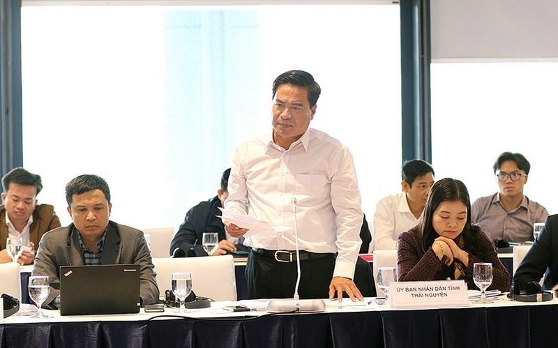 Đại diện các tỉnh, thành phố tham dự phát biểu tại Hội nghị