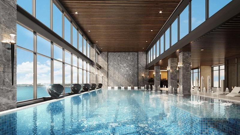 Ngắm nhìn toàn cảnh khu đô thị Vinhomes Ocean Park từ bể bơi bốn mùa trên độ cao 100 m – Trải nghiệm chỉ có tại Masteri Waterfront