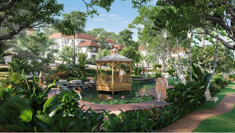 Cảnh quan, tiện ích được đầu tư lớn tại Sun Tropical Village. (Hình ảnh minh họa)