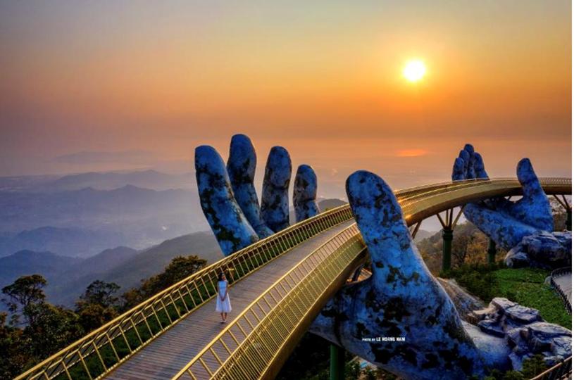 Cầu Vàng - một trong những công trình nổi tiếng thế giới nằm trong hệ sinh thái của Sun Group tại Đà Nẵng