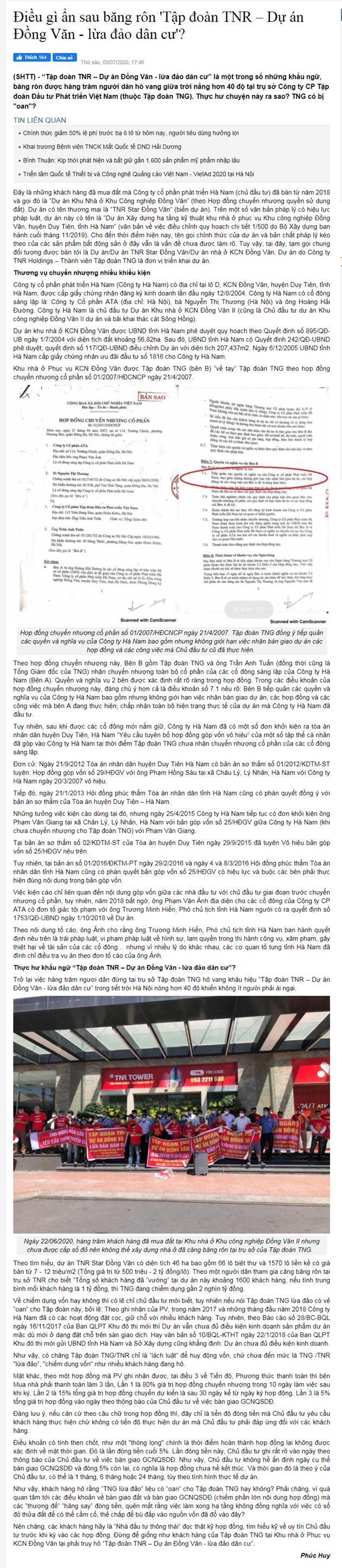 """Cư dân TNR Star Đồng Văn """"kêu cứu"""", biểu tình tố chủ đầu tư """"lừa đảo"""", chiếm đoạt tài sản? - Ảnh 4"""