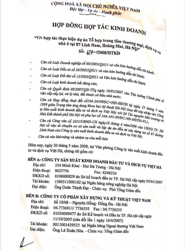 """Dự án New Horizon City 87 Lĩnh Nam: Ai vội vã mang """"đất vàng"""" đi hợp tác? - Ảnh 3"""