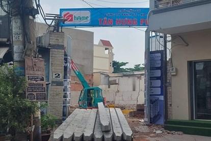 Tại địa chỉ được quảng cáo là chung cư mini thực chất theo giấy phép xây dựng là công trình nhà ở riêng lẻ. Ảnh: B. Chương