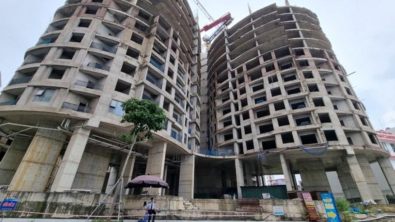 Công trường dự án chung cư Sky View Plaza ở thời điểm hiện tại