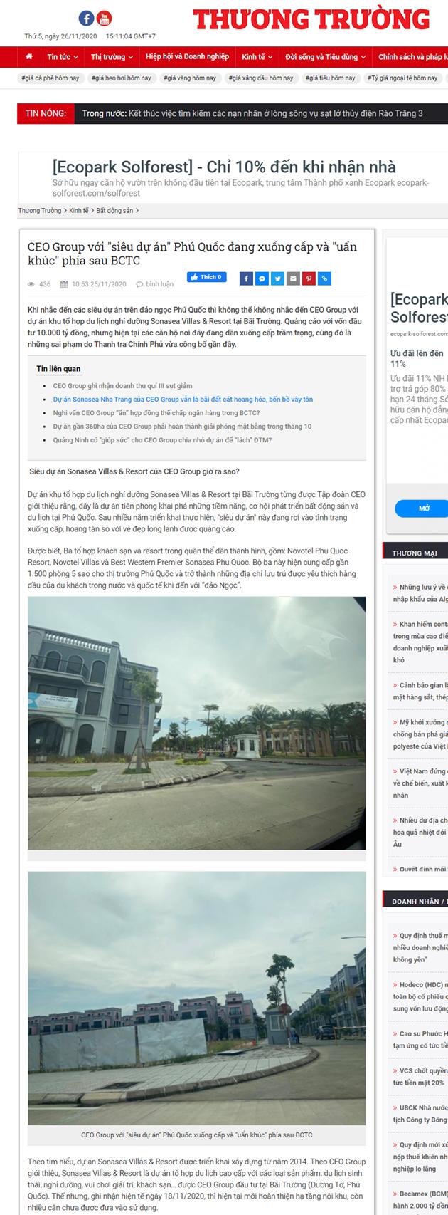 """Nghi vấn CEO Group lập công ty con """"ảo"""" để thu hút nhà đầu tư  và dấu hỏi về siêu dự án Phú Quốc - Ảnh 1"""
